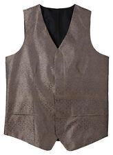 Polyester Paisley M Regular Size Vests for Men