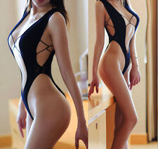 7082 Fishnet Babydoll Lingerie Underwear Temptation BODYSTOCKING bikini Dress