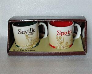 Starbucks Seville/Spain Espresso Cups Demitasse RARE