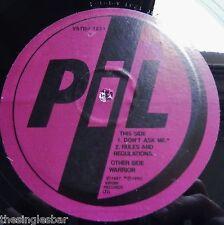 "Public Image Limited - Don't Ask Me 1990 Virgin Promotional 12"" Single"