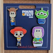 Toy Story Pixar Fest Pin Set 2018 Disney Woody Jessie Buzz Green Alien LE 1500