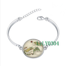 British Virgin Islands  glass cabochon Tibet silver bangle bracelets wholesale