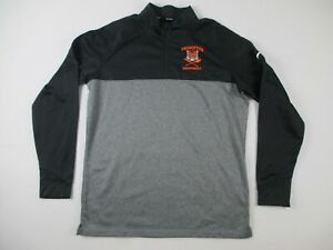 Princeton Tigers Nike Golf Pullover Men's Black/Gray Poly Used L