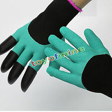 1pair Garden Gloves for gardening Digging & Planting with 4 Abs Plastic Claws