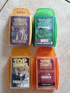 Top Trumps Card Game Bundle Marvel, LOTR, Pirates of the Caribbean X4