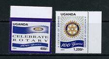 S129  Uganda 2004  Rotary  2v.   MNH