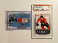 2007-08 Upper Deck Victory Rookie Card # 335, Patrick Kane - PSA 9 and Fabric