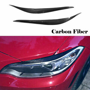 For BMW M2 F22 F23 220i 228i M235i 2D 14-18 Carbon Headlight Cover Eyebrow