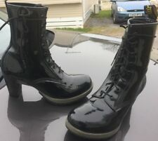 Dr Martens Darcie black leather boots UK 8 EU 42 heels