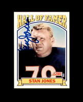 Stan Jones Hand Signed 1991 Score HoF Chicago Bears Autograph