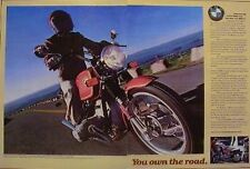 1978 BMW 800 R80/7 2 Page Motorcycle Ad YOU OWN THE ROAD