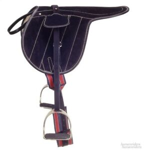 Suede Race Horse Excercise Saddle with Leathers, Irons and Girth