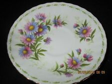 Royal Albert china Flower of the month MICHAELMAS DAISY Saucer only