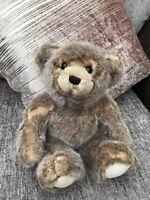 "John Lewis Brown Teddy Bear Soft Plush Toy Comforter V RARE cuddly 12"""