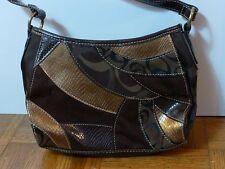 Multi-Tone Brown Purse Handbag