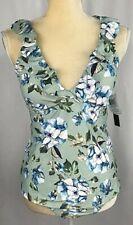 Alex Marie Tankini Swimsuit 2 Piece Set Size 16 Padded Bikini Blue New $126