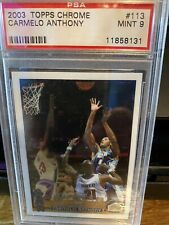 2003-04 Topps Chrome - Carmelo Anthony Rookie Card #113 - PSA 9 - Mint RC