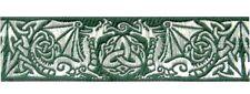 0,78€/m 10m Keltische Borte Webband 35mm breit Farbe: Grün-Silber