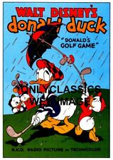 1938 DONALD DUCK GOES GOLFING POSTER GOLF GAME CARTOON GREAT VINTAGE GRAPHICS