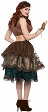 Steampunk Bustle 1 Piece 3 Layered Ruffled Pin On Costume Accessory One Size