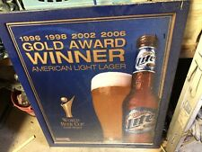 Golden Award Miller Light Beer Sign