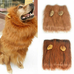Halloween Pet Clothes Fancy Dress Up Costume Cat Lion Mane Wig for Large Dogs
