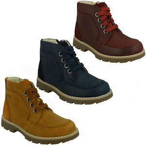 BOYS CLARKS HEATH LACE JUNIOR SMART CASUAL ANKLE BOOTS LACE UP INFANT YOUTH SIZE