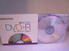 Memorex Blank DVD+R 10PK /16X / 4.7 GB / 120 Min New Plastic Sleeves Media Disk