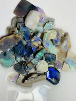 Australian Rough Opal parcel PLENTY OF BRIGHT COLOURS - 210 CTS  #3686 Video!