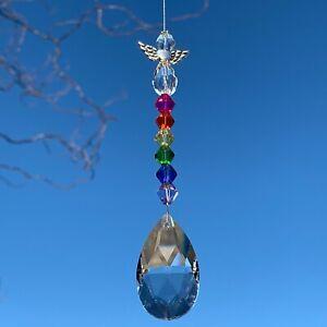 New Rainbow Hanging Sun Catcher Guardian Angel ~ Protection ~ Memorial ~ Pride
