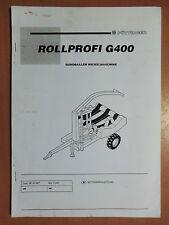 Betriebsanleitung Pöttinger Rollprofi G400 Rundballen Wickelmaschine 1997