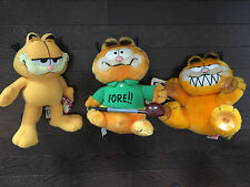 Garfield Cat Vintage 1981 Suction Cup & 1981 Golf Garfield with Paws Plush Toy