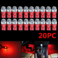 20pc 194 T10 Pure RED Instrument Panel Dash Cluster Led Dome Map Light Bulbs MN