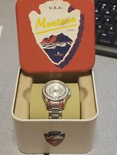 Fossil Ladies Stainless Steel Mini Riley 3-Hand Analog Watch With Date