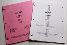 Mad Men * 2x DIFFERENT 2012 TV Script DRAFTS * Jon Hamm * Season 6, Episode 2