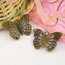 6Pcs Antiqued Bronze Hollow Butterfly Charms Pendants A4995