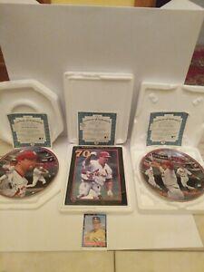 Mark Mcgwire Record 70 Home Runs Danbury Mint &  62 Collectible Plates Lot