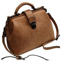 PF Women Handbags PU Leather Vintage Doctor Bags Crossbody Bags For Women Should