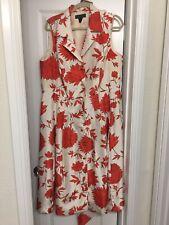 Women Cream/Orange 16W Dress.