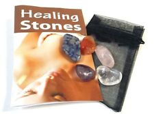 BNIP Set of 5 Healing Tumbled Stones: Pouch, Instructions for Lithotherapy