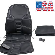 Back Massage Chair Heat Seat Cushion Neck Pain Lumbar Support Pads Car Relax 12V