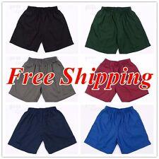 Boys Girls Kids Sports Wear Elastic Waist School Shorts Short Pants Uniform Sz