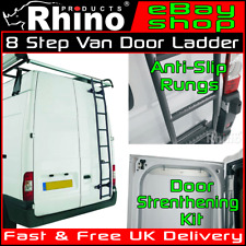 HIGH ROOF Ford Transit Rear Door Ladder 8 Step Anti Slip Rack Rhino 2000-2014