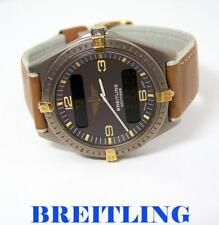 Mens Two Tone Titanium BREITLING NAVYTIMER Watch Ref 80360* EXLNT
