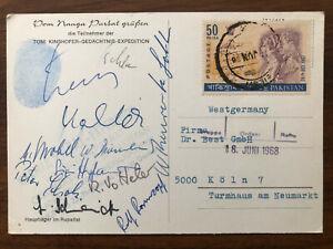 PAKISTAN OLD POSTCARD KINSHOFER HIMALAYA TIBET EXPEDITION TO GERMANY 1968 !!