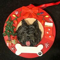 Wheaten Cairn Terrier in a Christmas Stocking Ornament