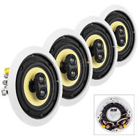 "6.5"" In-Ceiling Home Theater Speakers 60W RMS DVC Stereo 8 Ohm DCM TD622C 4 Pack"