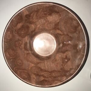 "Rare Mid Century Modern Saffron Marble Bowl 9.5"" Across 3.5"" Tall"