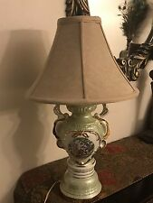 Vintage Hand-Painted Porcelain Victorian Couple Table Lamp