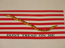 Wholesale Lot of 6 First Navy Jack Dont Tread on me Decal Bumper Sticker